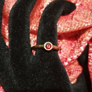 Handmade antique gold Ruby Ring